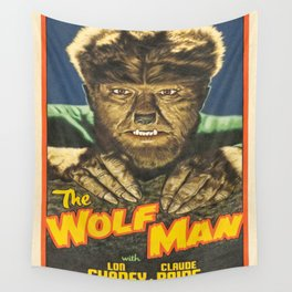 The Wolf Man reproduction poster print Wall Tapestry