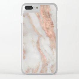 Civezza rose gold marble quartz Clear iPhone Case