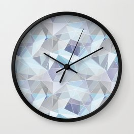 Broken glass in blue. Wall Clock