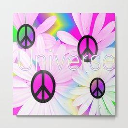 Flower Power Universe Metal Print