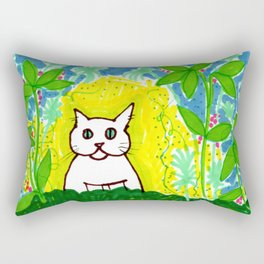 Wild Jungle Cat Rectangular Pillow