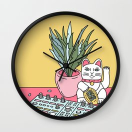 Sad cat pad Wall Clock