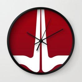 Striped Tomato Wall Clock