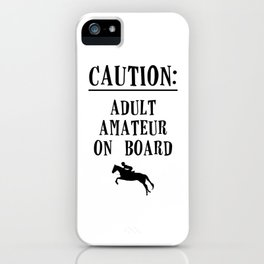 Adult Amateur iPhone Case