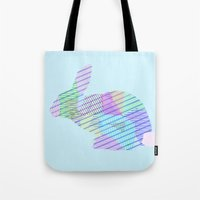 rabbit Tote Bags featuring Rabbit by nessieness