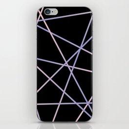 Rose Quartz & Serenity on Black iPhone Skin
