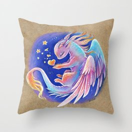 The heart of stars Throw Pillow