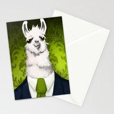 Formal Llama - Green Stationery Cards