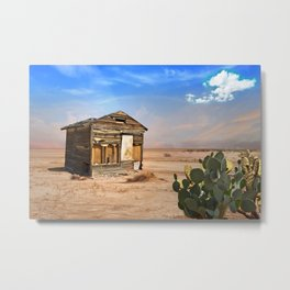 Shack in Desert Ghost Town Metal Print