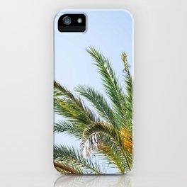 Blue Sky Palm Tree iPhone Case