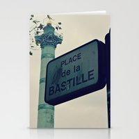 bastille Stationery Cards featuring Bastille by iokk