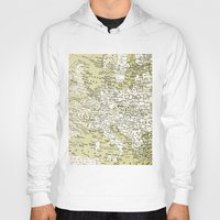 europe Hoodies featuring 1938 Europe by inourgardentoo