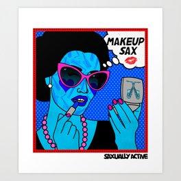 Make Up Sax Art Print