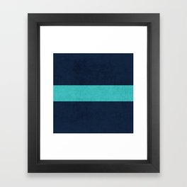 classic - navy and aqua Framed Art Print