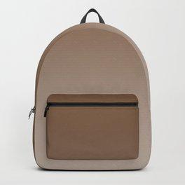 Brown to Pastel Brown Horizontal Linear Gradient Backpack