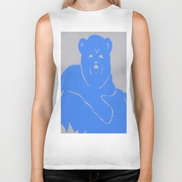Polar Bear Screen print - Wild Veda Biker Tank