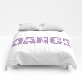 Dance in Light Purple with Dancer Cutouts Comforters