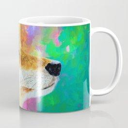 Watercolor Wolf Abstract (Color) Coffee Mug