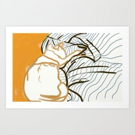 A study in orange Art Print