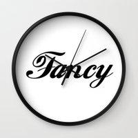 fancy Wall Clocks featuring Fancy  by Poppo Inc.