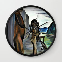 Emily Carr - Blunden Harbour - Digital Remastered Edition Wall Clock