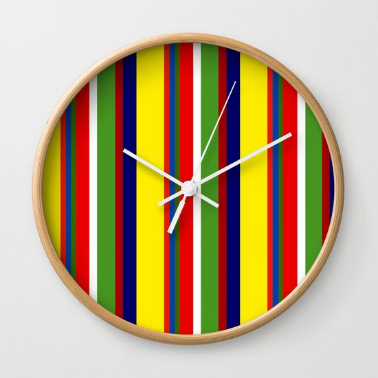 Stripes fullfilled  Wall Clock