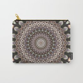 3D Mandala in Sophisticated Earth Colors #society6 #buyart Carry-All Pouch