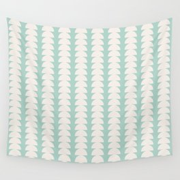 Maude Pattern - Teal Wall Tapestry