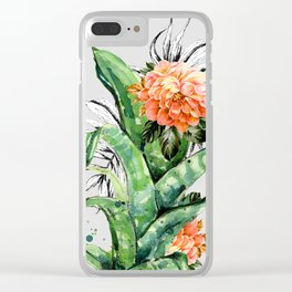 Collage of florid nature Clear iPhone Case