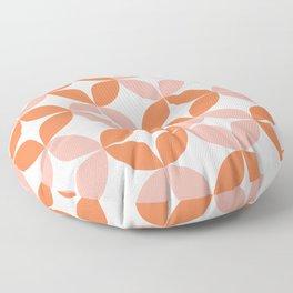 Mid Century Modern Motif Pattern in Burnt Orange and Blush Floor Pillow