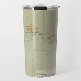 Vintage Lighthouse Map of Hawaii (1898) Travel Mug