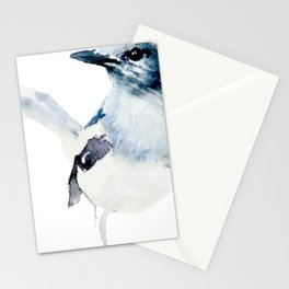 Watercolor Magpie Painting Stationery Cards