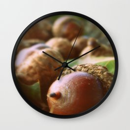 Acorns 2 Wall Clock