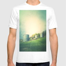 Farm land drive by White Mens Fitted Tee MEDIUM