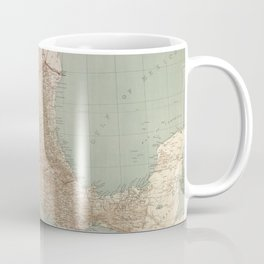 Vintage Mexico Railroad Map (1881) Coffee Mug