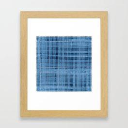 Blue knitting Framed Art Print