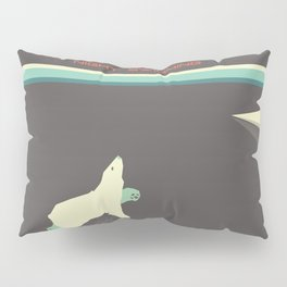 Polar bear nigh swimming Pillow Sham