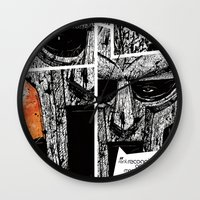 doom Wall Clocks featuring MF Doom by Crooked Octopus