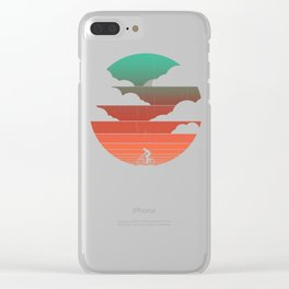 Go West (cycling edition) Clear iPhone Case