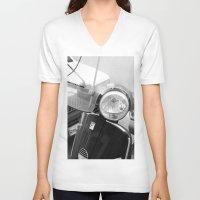 italian V-neck T-shirts featuring Italian Life by Khaled Ali