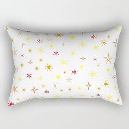 Star shapes of warm colors Rectangular Pillow