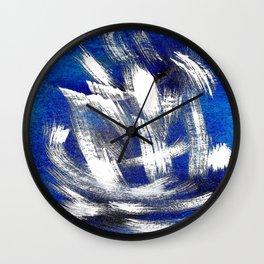 Cosmic blue white Wall Clock