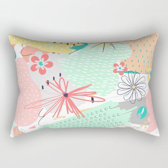 Modern creative abstract floral paint Rectangular Pillow