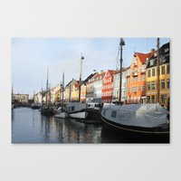 denmark Canvas Prints featuring Denmark by Kayleigh Rappaport