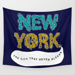 The Melted City, That Never Sleeps. Wall Tapestry