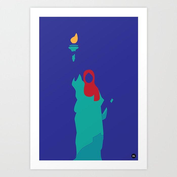 Immigrant Lady Liberty Art Print