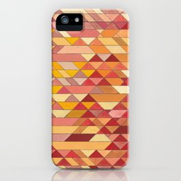 Triangle Pattern no.4 Warm Colors Red and Yellow iPhone Case