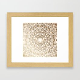 Gold Mandala 19 Framed Art Print