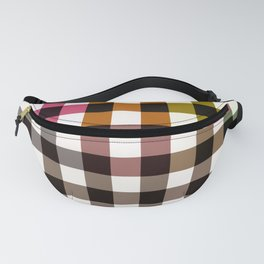 Color Gradient Checkerboard Pattern Fanny Pack