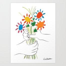 Le Bouquet Pablo Picasso Art Print